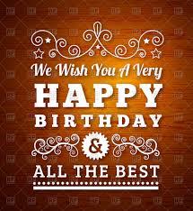 retro birthday greeting card vector clipart image 74554 u2013 rfclipart