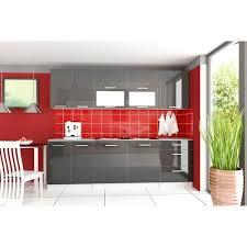 cuisine grise pas cher meuble cuisine gris laqué pas cher cuisine en image