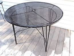 Oval Wrought Iron Patio Table Salterini Antiques Ebay