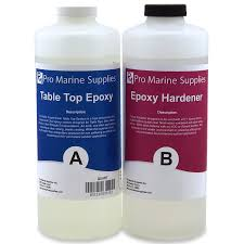 pro marine supplies table top epoxy crystal clear bar table top epoxy resin 2 quart kit silhouette