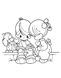 precious moments coloring pages love couple coloringstar