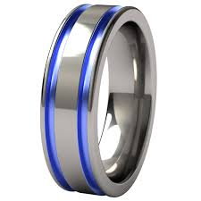 blue titanium wedding band mens titanium wedding bands with blue criolla brithday wedding