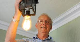 who made the light bulb light bulb 100 year old light bulb pensioner roger dyball had a