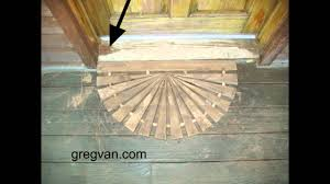 Exterior Door Threshold Replacement by Wood Door Threshold Tips House Maintenance And Damage Youtube