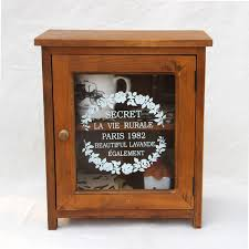 Small Cabinets With Glass Doors Zakka Grocery Retro Small Cabinet Storage Cabinet Lockers Desktop