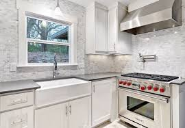 White Back Splash - White kitchen backsplash