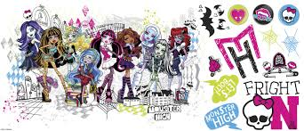 interior eye catching monster high wall decals for your dream grave digger decals monsters inc nursery monster high wall decals