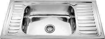 Double Kitchen Sink With Drain Board Square  Decor Trends - Drain kitchen sink