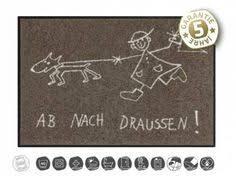 schmutzfangmatten design tierische fußmatten designer fußmatte hereinspatziert 50 x 75cm