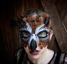 Owl Halloween Costume Adults Feather Horned Owl Mask Owl Costume Owl Maskmardi