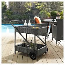 sojourn outdoor patio beverage cart in chocolate modway target