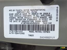toyota camry color code 2002 camry color code 1c8 for lunar mist metallic photo 62568592