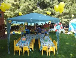 Backyard Sweet 16 Party Ideas Spongebob Party Ideas In Yellow