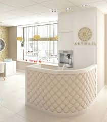 Used Salon Reception Desk Modern Reception Desk Bethebridge Co