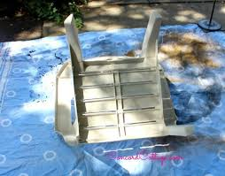 Outdoor Furniture Plastic Chairs by Paint Your Plastic Chairs Hometalk