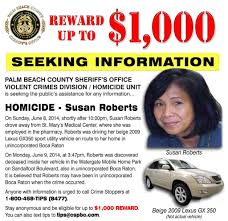 lexus in palm beach new information in susan roberts murder case bocanewsnow com