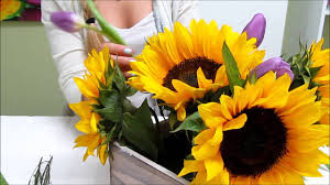 sunflower centerpiece sunflower series how to make a sunflower centerpiece