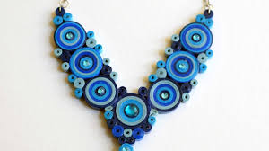 blue necklace images Blue necklace quilled necklace diy paper necklace jpg