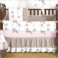 Elephant Crib Bedding Sets Pink Elephant Crib Bedding Set Home Design Remodeling Ideas