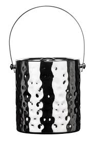 ice bucket with lid hammered stainless steel same day dispatch