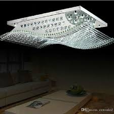 Chandelier Led Lights Modern Square Crystal Lights K9 Crystal Chandelier Ceiling Lamp