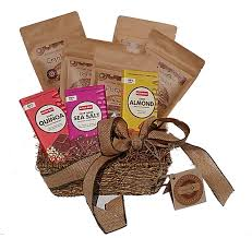 Vegan Gift Baskets Family Size All Organic Raw Nuts And Superfoods Gift Basket I Free