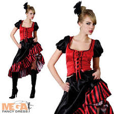Moulin Rouge Halloween Costume Saloon Ladies Fancy Dress Western Moulin Rouge Womens