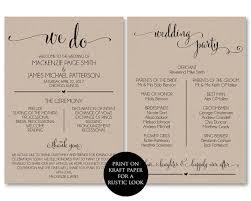 downloadable wedding program templates wedding program template wedding program printable we do