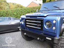land rover defender convertible blue marlin the landrovers