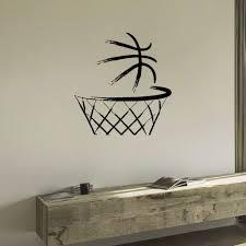 basketball ball in the basket wall art sticker decal decorating basketball ball in the basket wall art sticker decal