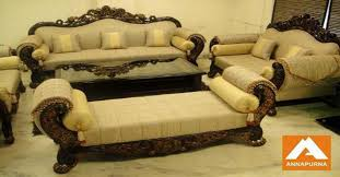 Premium Quality Furniture And Sofa Manufacturers In Kolkata - Teak wood sofa set designs