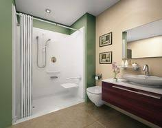 Small Bathroom Designs With Walk In Shower Accessible Shower With No Curb Gentle Slope Next We Move To The