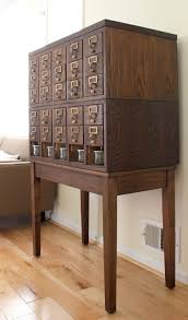 library card catalog makeover craft storage solutions vintage