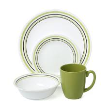Corelle Livingware 16 Piece Dinnerware Set Winter Frost White Decorating Impressions 16 Piece Corelle Dinnerware Set For Chic
