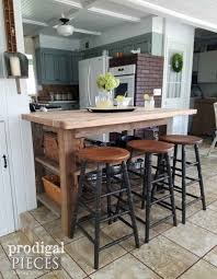 create a farmhouse styled kitchen by making remodeling bar stools