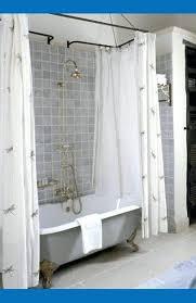 Design Clawfoot Tub Shower Curtain Rod Ideas Awesome Best 25 Shower Curtain Rods Ideas On Pinterest Industrial
