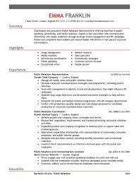 Best Example Resumes by Amusing Pr Resume 3 Best Public Relations Resume Example Resume