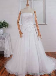 strapless layers lace wedding dress with corset back lace wedding