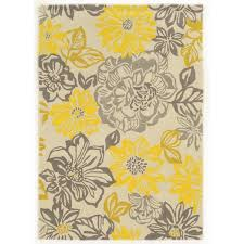Yellow And Grey Outdoor Rug Outstanding Yellow And White Area Rug Rugs Decoration Regarding