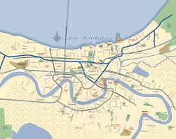 Map Of The Mississippi River New Orleans Neighborhood Map New Orleans La U2022 Mappery