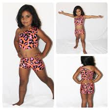 Little Girls Clothing Stores Coral Cheetah And Coral Girls Dance Wear Competition Dance
