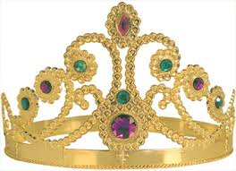 mardi gras crown ajustable plastic crown caufields