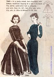 butterick pattern 7930 jumper dress dated 1956 fifties 50s