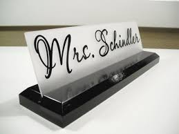 Name Plates For Office Desk Desk Name Plate Ideas Vision Fleet