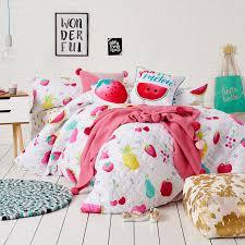 Adairs Bedding Adairs Kids Fruit Crush Duvet Cover Set Bedroom Quilt Covers