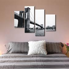Grey Bedroom Wall Art 4 Piece Canvas Prints Christmas Gift Abstract Grey Canvas Wall Art
