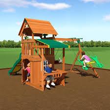 mason wooden swing set forts backyard discovery