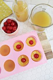 pineapple upside down cake jello shots a beautiful mess