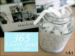 one year anniversary gift ideas for him diy 2 year anniversary gift idea the 365 reasons why i you