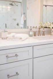 White Cabinet Bathroom Ideas Gold Finished Faucets And Best White Cabinet Using Chrome Pulls